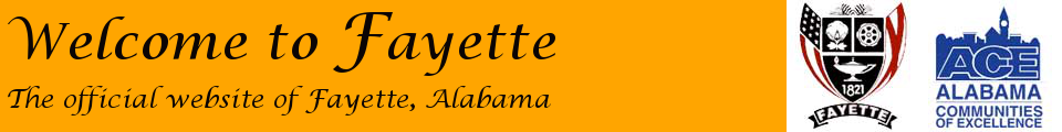 Welcome to Fayette, Alabama